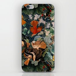 Birds and snakes iPhone Skin