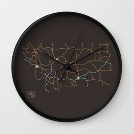Montana Highways Wall Clock