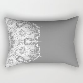 Crab Karma Mandala White Rectangular Pillow
