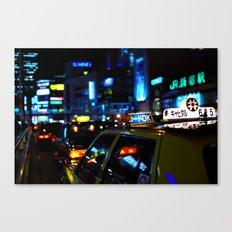 Tokyo Night Lights Canvas Print