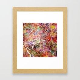 Knoxville map Framed Art Print