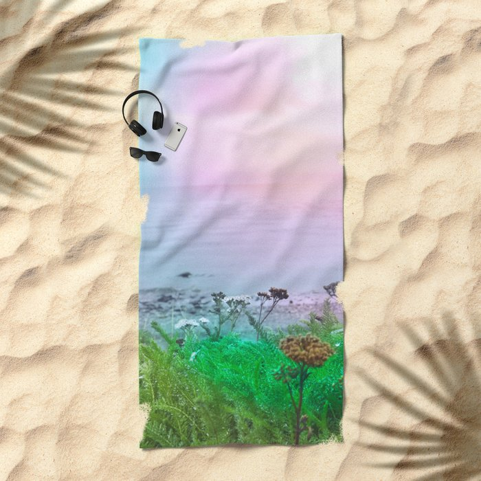 Pastel vibes 66 Beach Towel