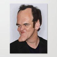 quentin tarantino Canvas Prints featuring Quentin Tarantino by Sri Priyatham