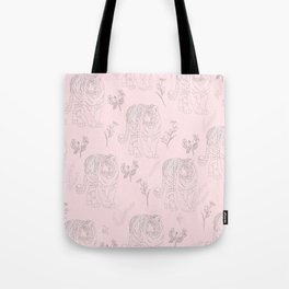 Wildflower Tiger Tote Bag