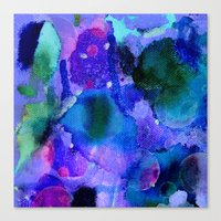 milky way Canvas Prints featuring Milky way way way by Perk & Powe Designs