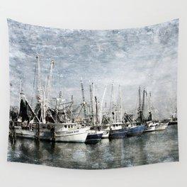 Shrimp Boats at the Harbor Wall Tapestry