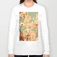 sakura Long Sleeve T-shirts featuring Pink by Olivia Joy St.Claire - Modern Nature / T