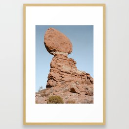 Balancing Rock. Arches National Park, Utah. Framed Art Print