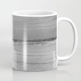 Dunes of Assateague Island (black and white) Coffee Mug