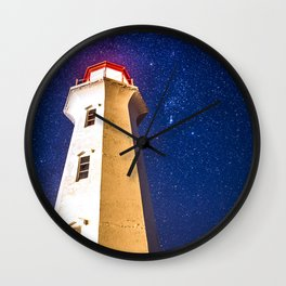 Starry Night at Peggy's Cove Wall Clock