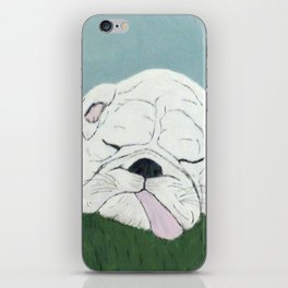 Bulldog Nap iPhone Skin