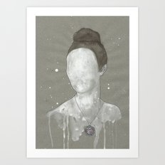 girl with kütahya porcelain çini necklace Art Print