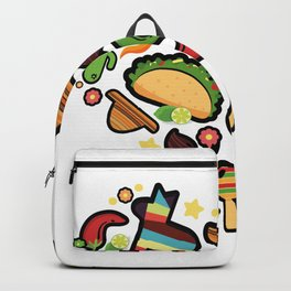 Love Cinco De Mayo Mexican Party Costume Backpack