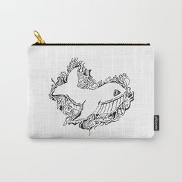 Whale Lineart Carry-All Pouch