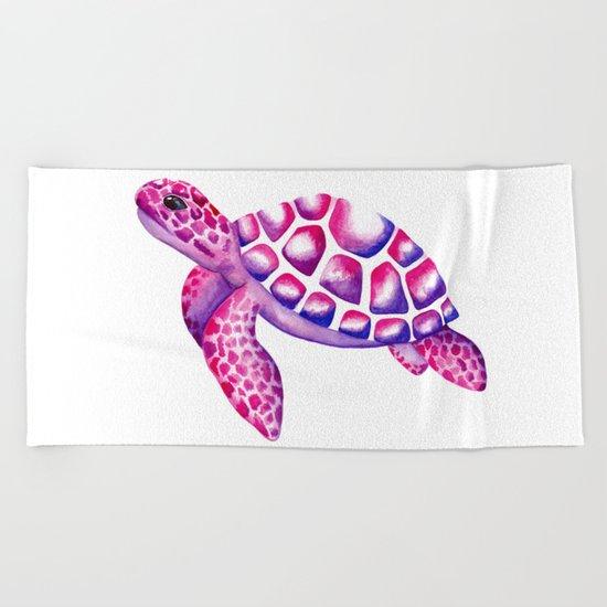 Watercolour Sea Turtle Beach Towel