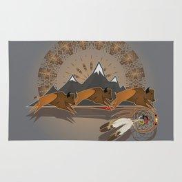 Native American Indian Buffalo Nation Rug