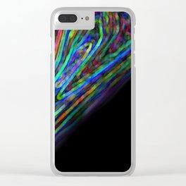Descending Color Clear iPhone Case
