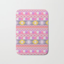 Rustic vibe in purple and pink Bath Mat