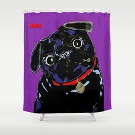 Pug of Gooberella Shower Curtain