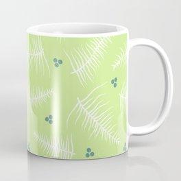 Fronds & Berries on Green Coffee Mug
