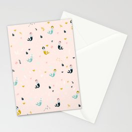 Cute Mermaid pattern Stationery Cards