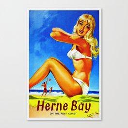 Vintage Herne Bay Kent England Travel Canvas Print
