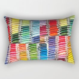 Bright Embroidery Threads Rectangular Pillow