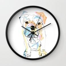 Bulldog Colour Wall Clock