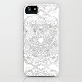 soft colored mandala pattern iPhone Case