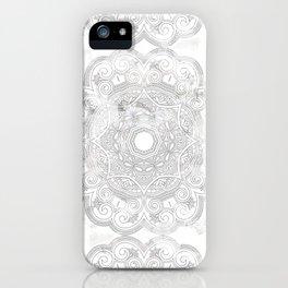 soft colored mandala pattern iPhone Case