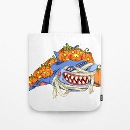 Halloween Pumpkin Shark Tote Bag