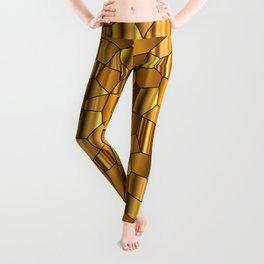 Random Gold Mosaic Background Leggings
