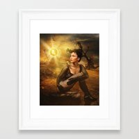 scorpio Framed Art Prints featuring Scorpio by EnchantedWhispers