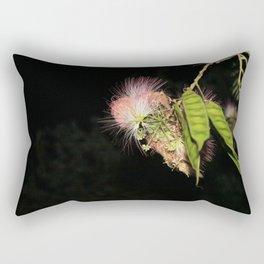 Blooming Midnight Flower Rectangular Pillow