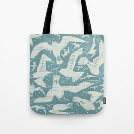 Migrating Gulls Tote Bag
