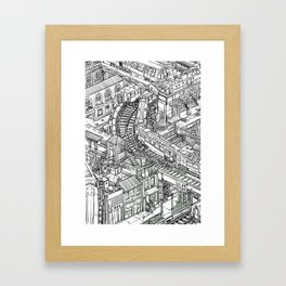 The Town of Train 2 Framed Art Print