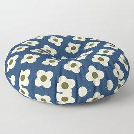 Retro Floral Pattern Scandinavian Floor Pillow