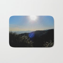 Los Angeles view from Runyon Canyon Bath Mat