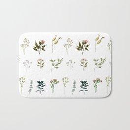 Delicate Floral Pieces Bath Mat