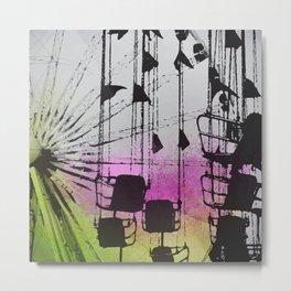 Love Roller Coasters Metal Print
