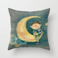 boy Throw Pillows featuring Boy by Catru