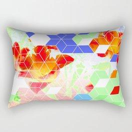 Pop Floral Cube Pattern 2  #fashion #pattern #lifestyle Rectangular Pillow