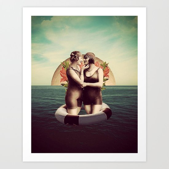 Love At Sea Art Print