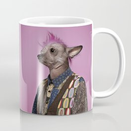 Punk Chinese Crested Dog Coffee Mug
