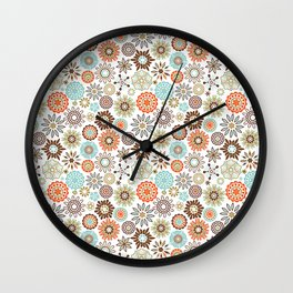 Ornate Floral  Wall Clock