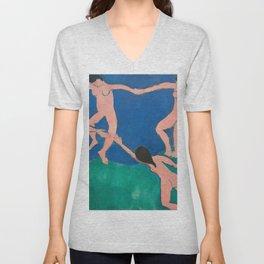 Dance (1) by Henri Matisse Unisex V-Neck