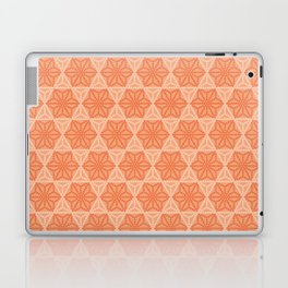 Orange Japanese Hemp Kimono Pattern Tie Dye Bitta Laptop & iPad Skin
