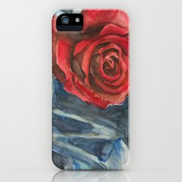 Water Color Rose Study  iPhone Case