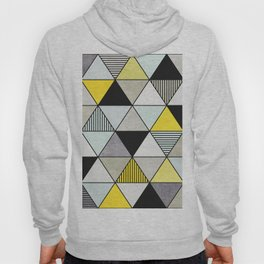 Colorful Concrete Triangles 2 - Yellow, Blue, Grey Hoody