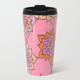 zakiaz hot pink lotus Travel Mug